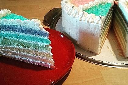 Regenbogen-Torte 16