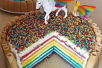 Regenbogen-Torte 1