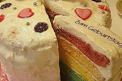 Regenbogen-Torte 20