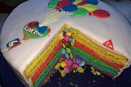 Regenbogen-Torte 25