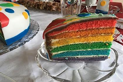 Regenbogen-Torte 19