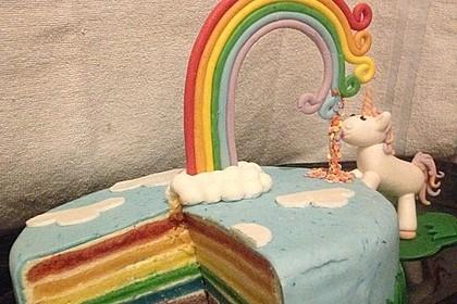 Regenbogen-Torte 3