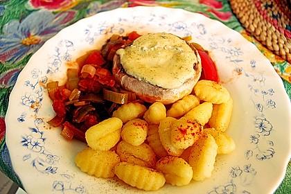Gefüllte Champignons (Auflauf) mit Gnocchi