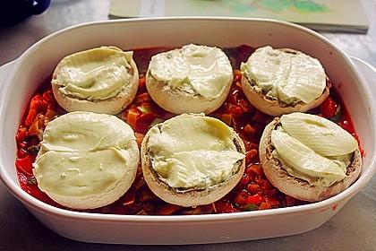 Gefüllte Champignons (Auflauf) mit Gnocchi 2
