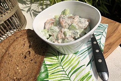 Gurken-Lachs-Salat 2