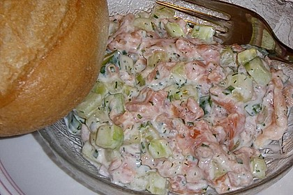 Gurken-Lachs-Salat 1