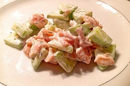 Gurken-Lachs-Salat 4