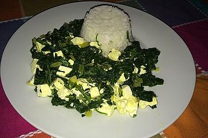 Spinat-Feta-Gericht (Bild)