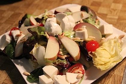 Bunter Blattsalat mit Pfirsichen 4