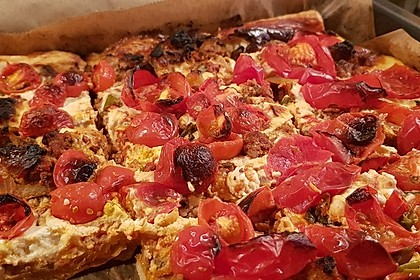 Hack-Tomaten-Pastete mit Schafskäse (Bild)