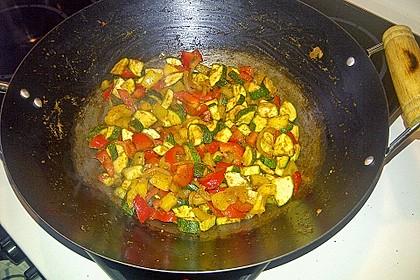 Schnelles Curry-Couscous-Gemüse aus dem Wok 4