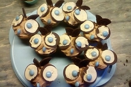 Eulen-Muffins mit Oreo Keksen 1