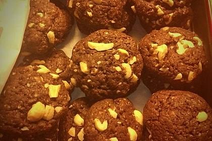 Vegane American Schoko-Cookies mit gehackten Mandeln 4