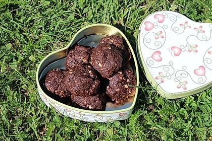 Vegane American Schoko-Cookies mit gehackten Mandeln 3