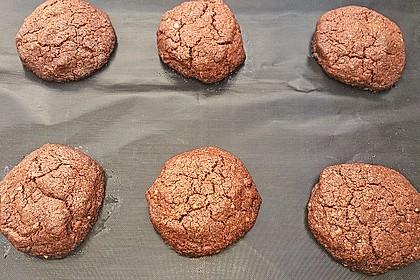 Vegane American Schoko-Cookies mit gehackten Mandeln 1