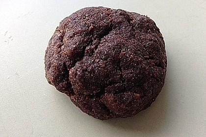 Vegane American Schoko-Cookies mit gehackten Mandeln 2