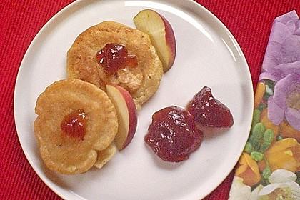 Vegane Apfelpfannkuchen mit Reisdrink