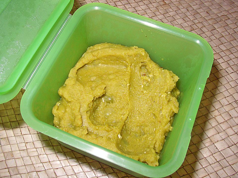 Veganer Brotaufstrich Aus Grunen Erbsen Von Chefkuch Chefkoch De