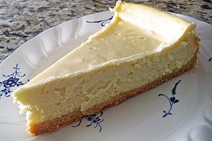 NY-Style Cheesecake mit weißer Schokolade