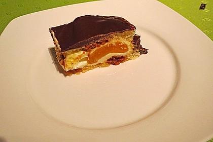 Amarettini-Schnitten mit Schokoladenglasur