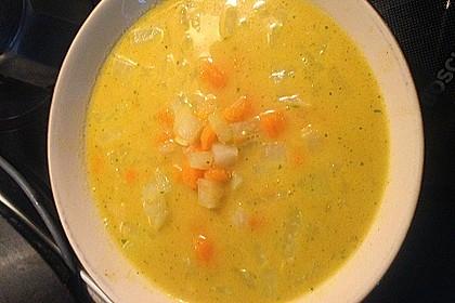 Kohlrabi-Kokos-Suppe 8