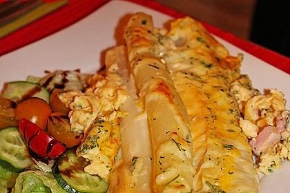 Spargel im Omelettteig