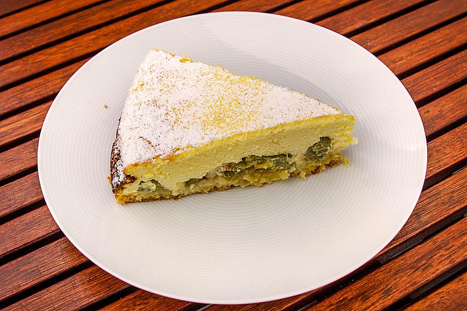 Rhabarber Quarkcreme Kuchen Mit Limoncello Von Daniel61 Chefkoch De