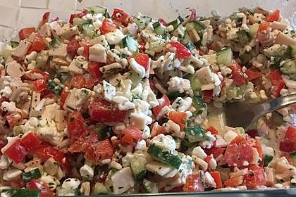 Low Carb Hüttenkäse Salat 6