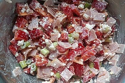 Low Carb Hüttenkäse Salat 3