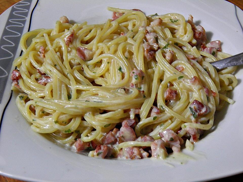 Spaghetti Carbonara Ohne Ei Von Tessa969 Chefkoch