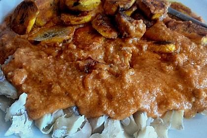 Seelachsfilet mit Kochbananen und Erdnusssoße 2