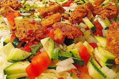 Flammkuchen mit Gemüse und Putenbrustfilet 4