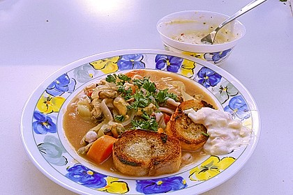 Bouillabaisse mit Meeresfrüchten