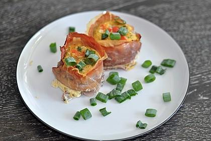 Frühstücks-Muffin mit Ei