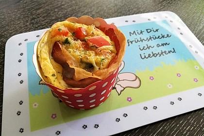 Frühstücks-Muffin mit Ei 1