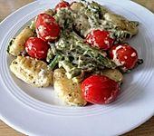 Gnocchi mit grünem Spargel (Bild)
