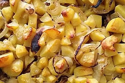 Kartoffeln à la Bocuse mit Kotelett (Bild)