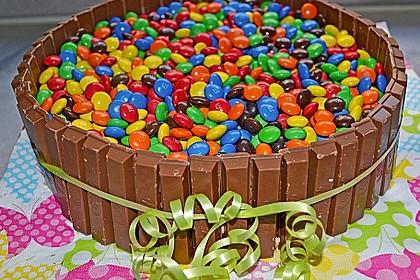 Bunte Schoko Kitkat Smarties Torte Von Dannbee Chefkoch De