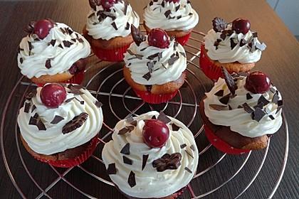 Schneewittchen-Cupcakes