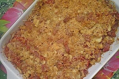 Chicoree mit Tomaten, überbacken mit Käse und Schinken 1