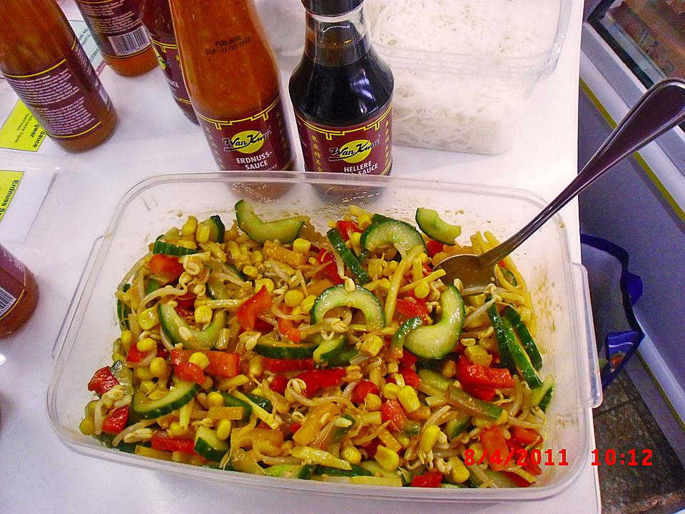 Salat Mit Erdnuss Sauce Von Peppistorch Chefkochde