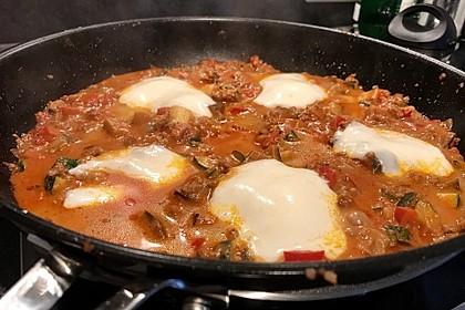 Hackfleischpfanne mit Tomaten und Gemüse 1