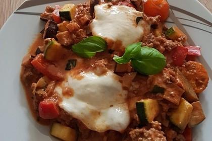 Hackfleischpfanne mit Tomaten und Gemüse 11