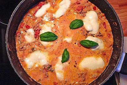 Hackfleischpfanne mit Tomaten und Gemüse