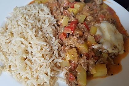 Hackfleischpfanne mit Tomaten und Gemüse 23