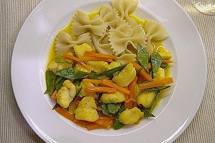 Seeteufelragout mit Gemüsejulienne und Safransauce 1