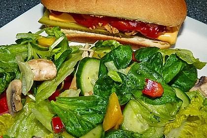 Salatdressing Essig und Öl 6