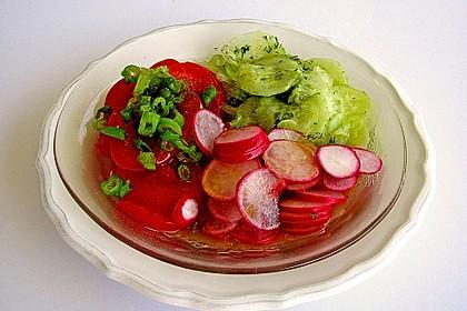 Salatdressing Essig und Öl 10