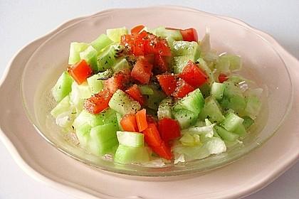 Salatdressing Essig und Öl 17