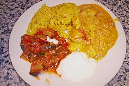 Indisches Chicken Korma 46